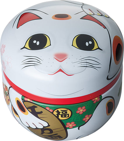 Japanese tea tin - Maneki Neko