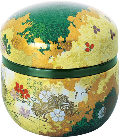 Japanese tea tin - Suzuko Hanazoroe