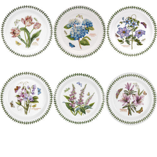Portmeirion Botanic Garden 10 inch Dinner Plate Set of 6