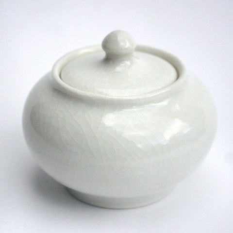 Ivory Porcelain Caddy