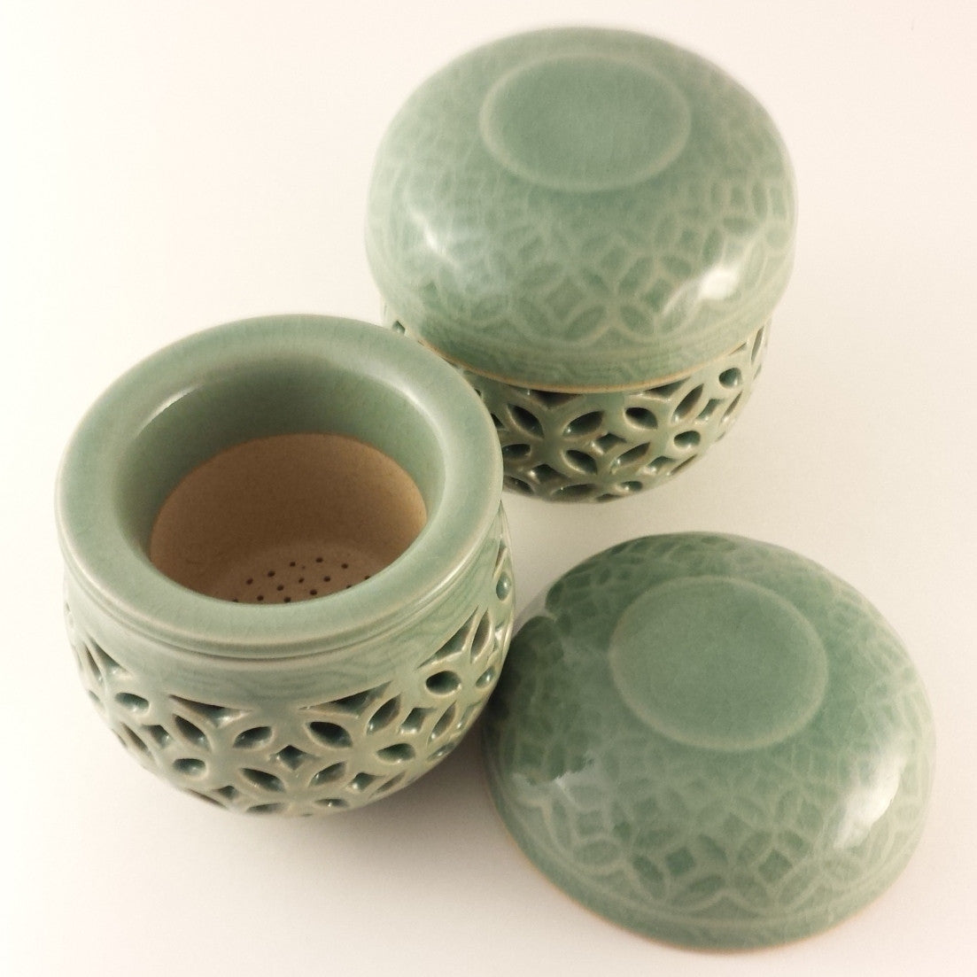 Infuser cup set - celadon web