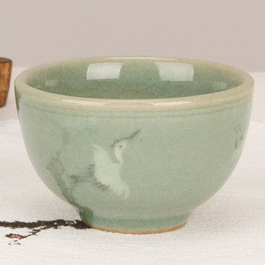 Korean Celadon teacup - Woon Hahk