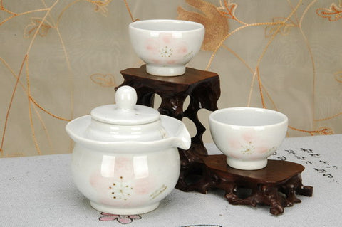 Convenient tea set - Cherry blossom