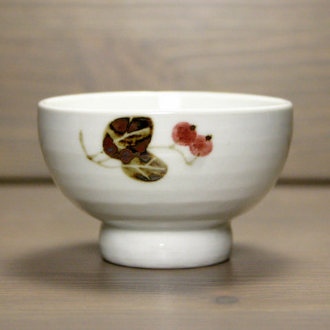 Korean porcelain teacup - berry