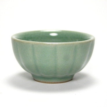 Korean celadon teacup - pumpkin