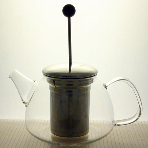 Glass Teapot  Stainless Steel French Press