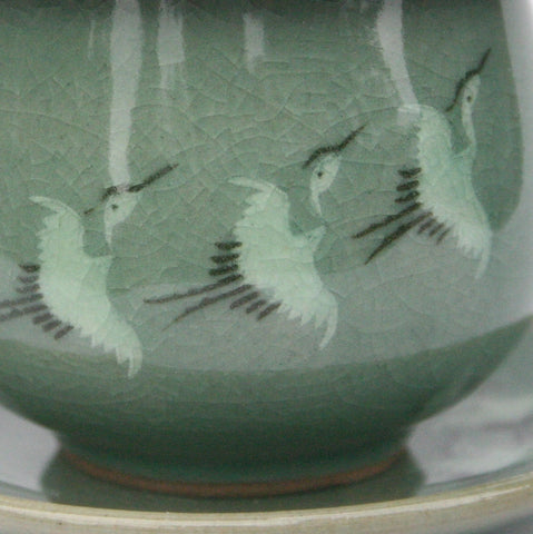 Infuser Cup Set of 2 - Korean Celadon 'Crane'