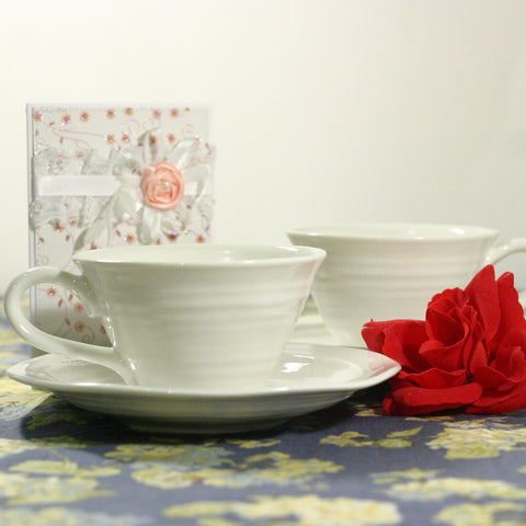 Sophie Conran for Portmeirion - Teacup & Saucer Set of 4