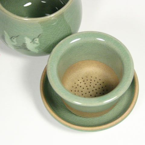 celadon infuser cup - Three cranes
