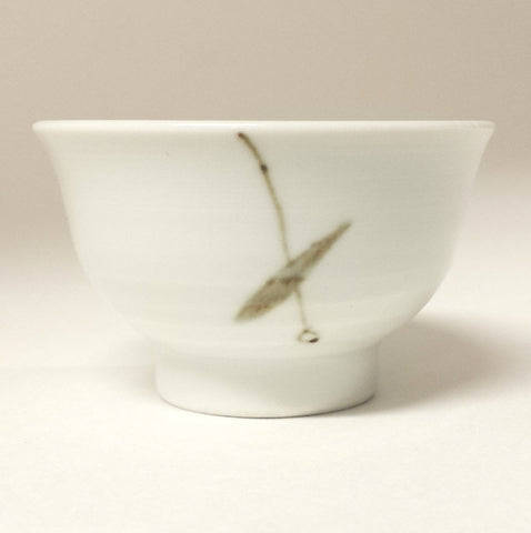 Korean porcelain teacup bamboo