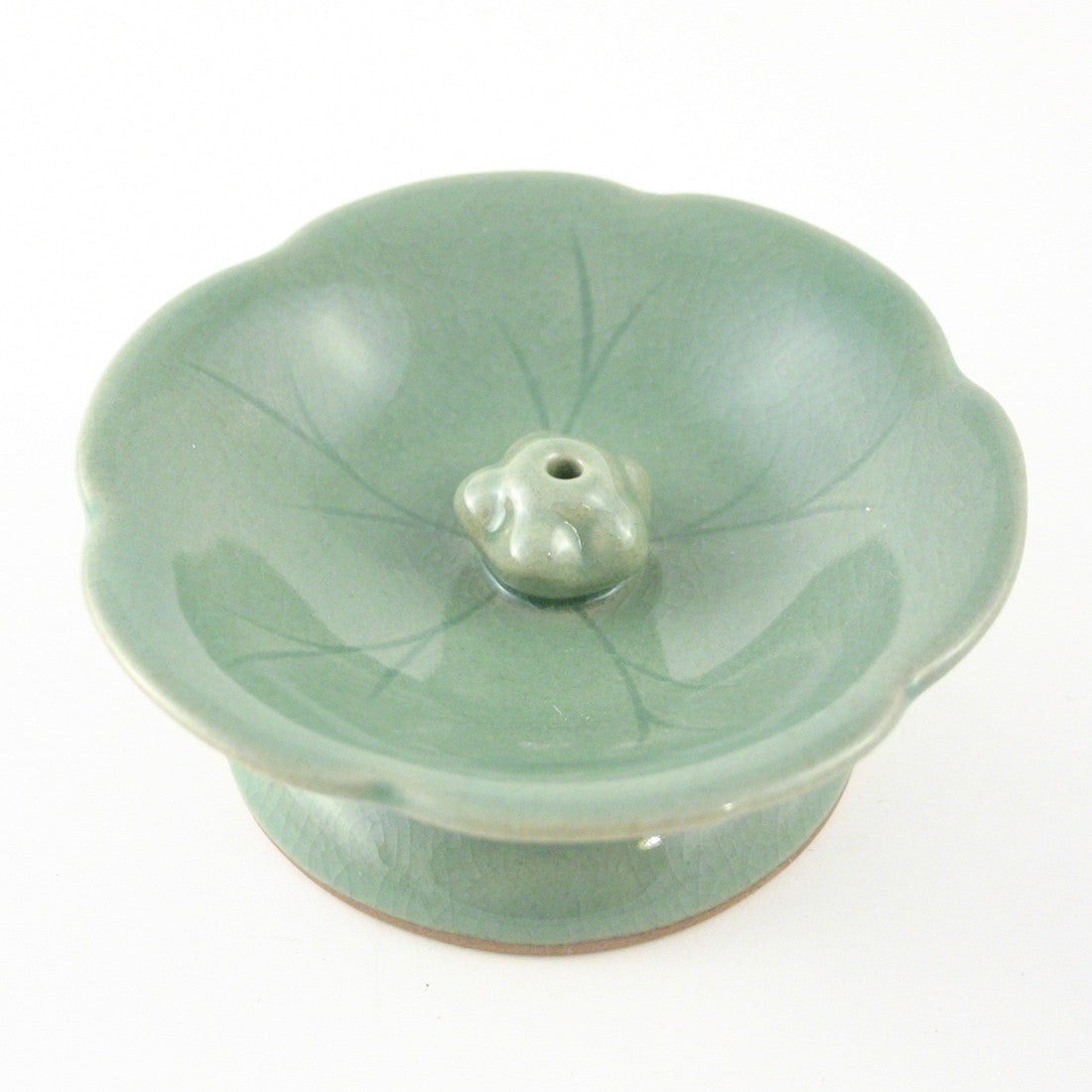Celadon Incense Holder - Lotus