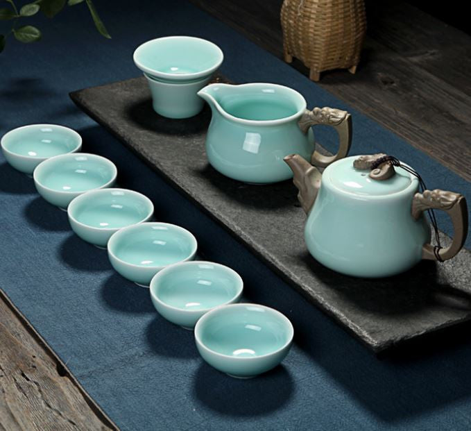 celadon tea set gift boxed