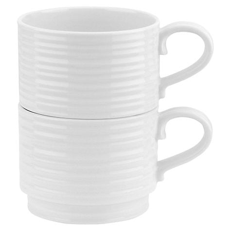 Sophie Conran for Portmeirion White Stacking Cups Set of 2