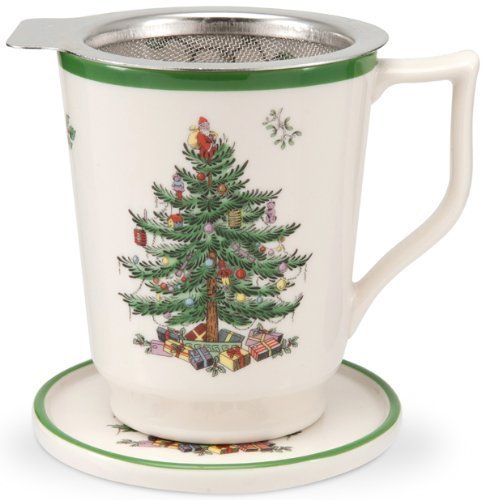 Spode Christmas Tree Candle Holder: Spode Christmas Tree Tisaniere