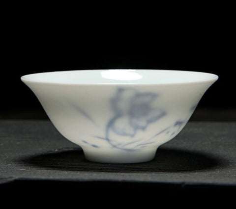 teacup white blue porcelain