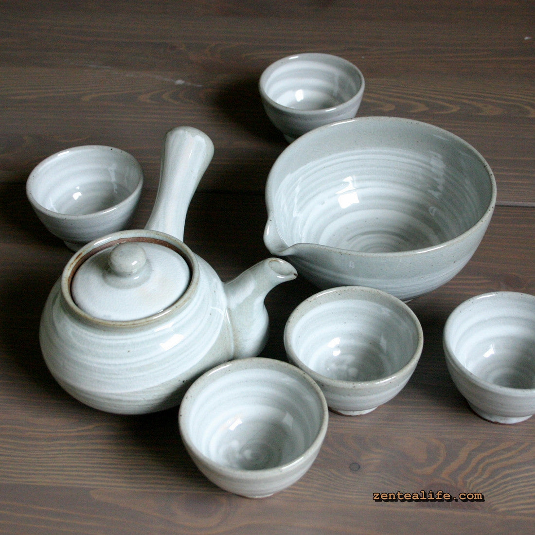 Korean tea set - Brush Touch 5 cups