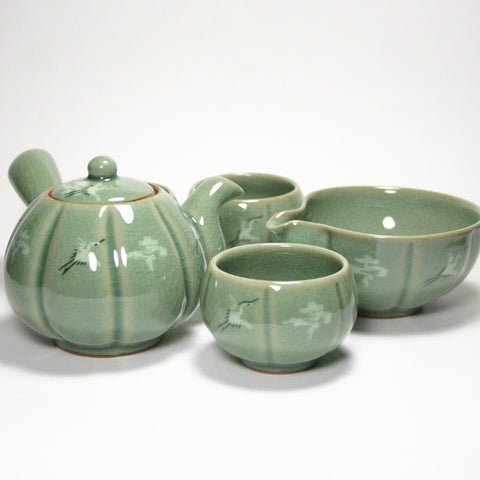 Celadon 3 cups tea set
