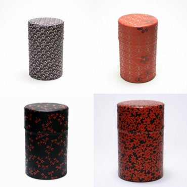 various Japanese paper tins