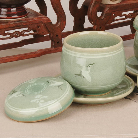 Celadon infuser cup set - Cloud & Crane