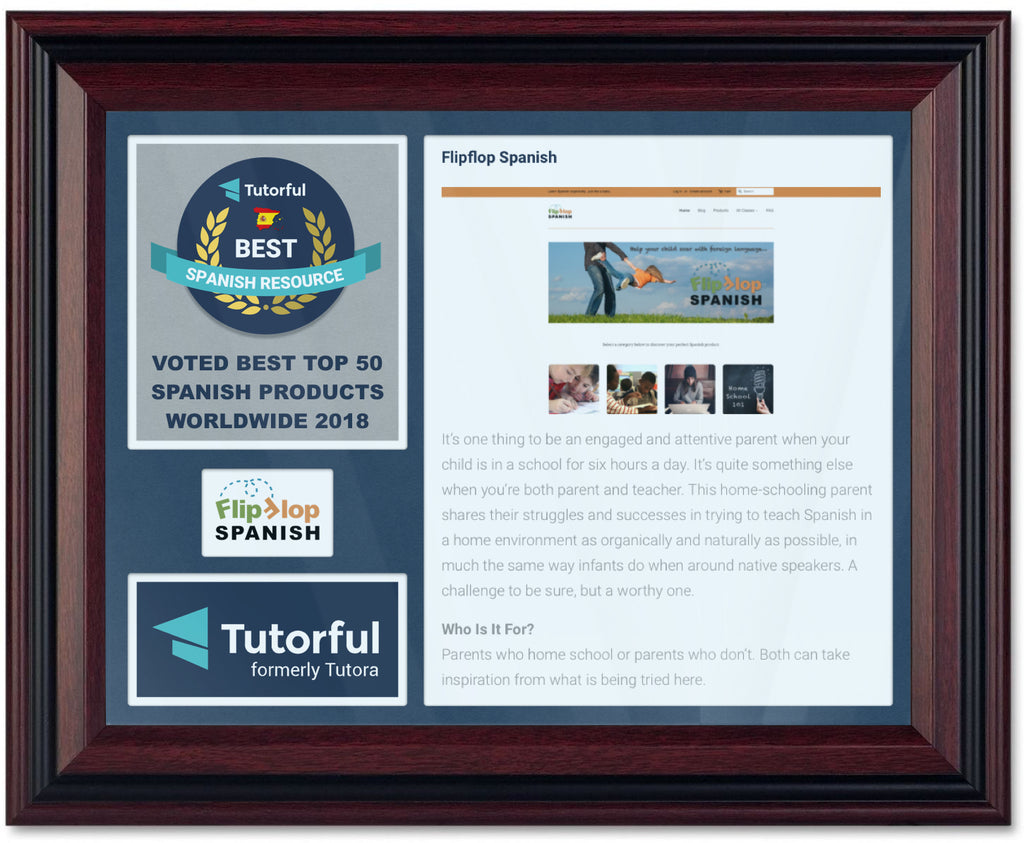 Tutorful Spanish Curriculum Award