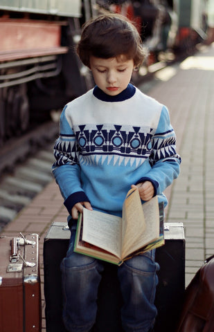 Reading on a Suitcase