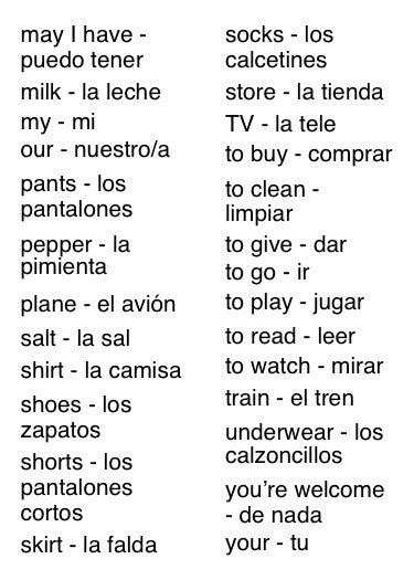 Flip Flop Spanish Flash Cards: Azul vocabulary index 2