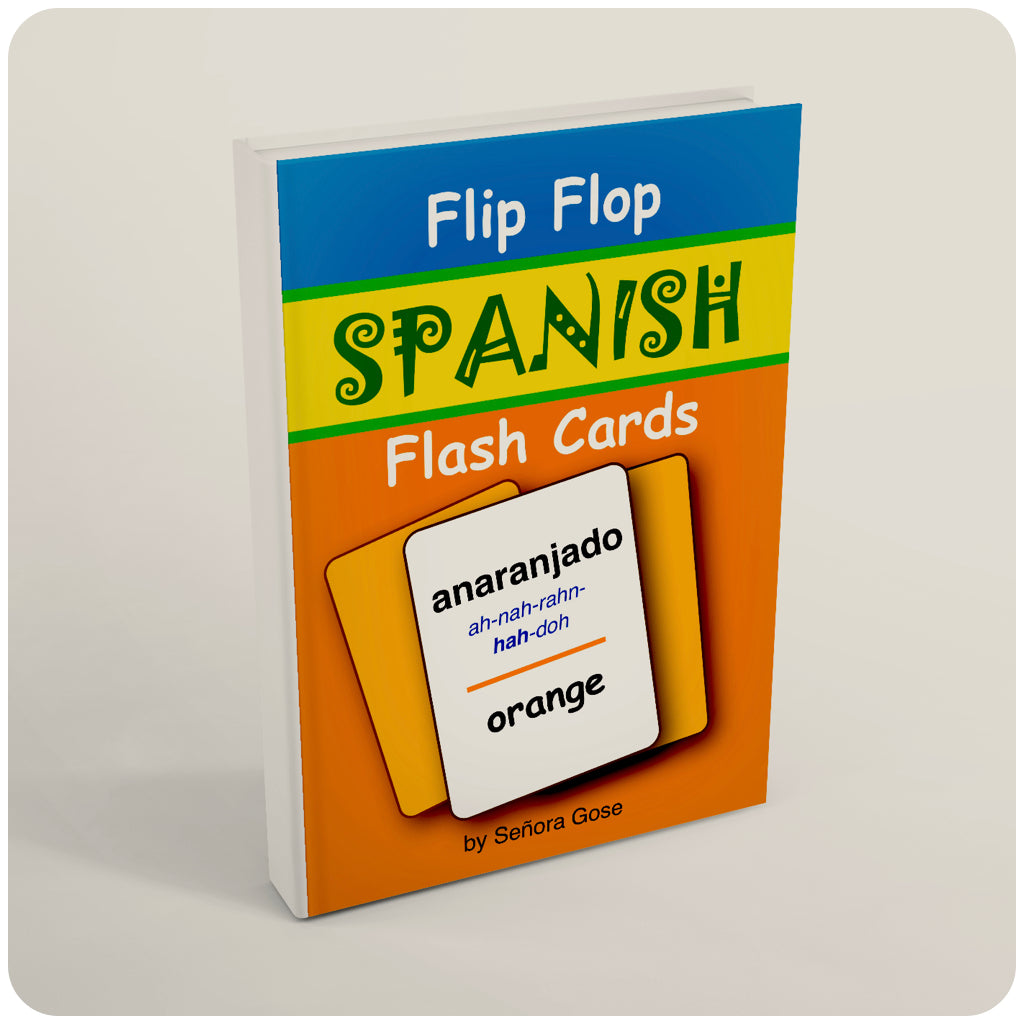 Flip Flop Spanish Flash Cards: Anaranjado
