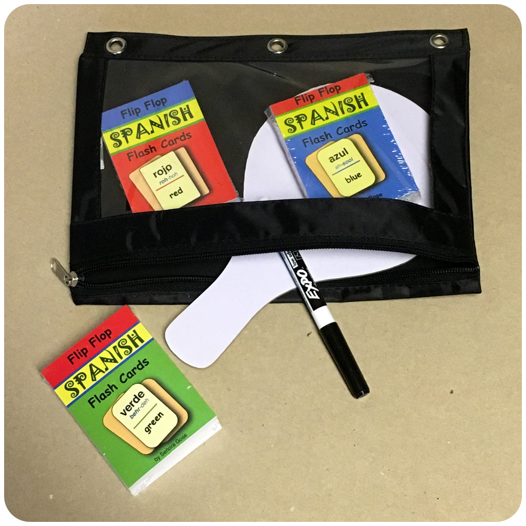 Three-Ring Zipping Binder Pouch (Black)