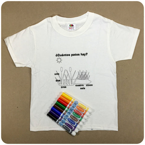 Spanish Color Me T-Shirt + Markers