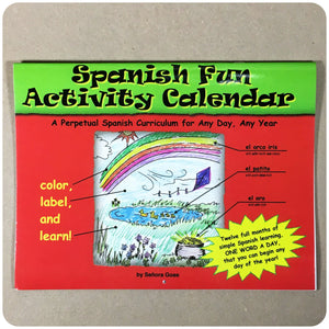 Spanish Fun Activity Calendar - Homeschool Spanish Curriculum | Flip Flop Spanish