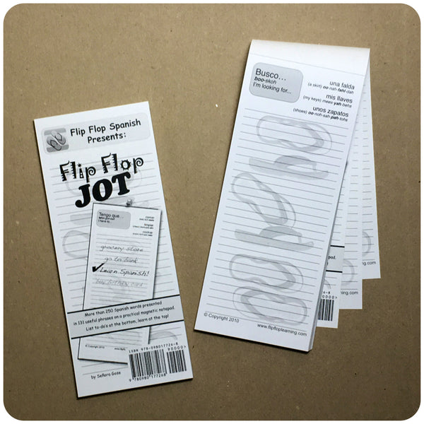Flip Flop Jot: Spanish for List-Makers