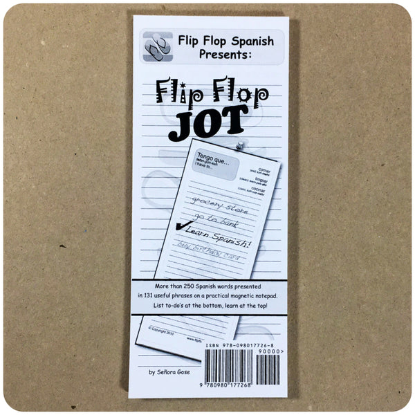Flip Flop Jot: Spanish for List-Makers NOTEPAD