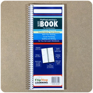 Skinny Book: The Multipurpose Learning Notebook - Flip Flop Spanish ?? Homeschool Curriculum