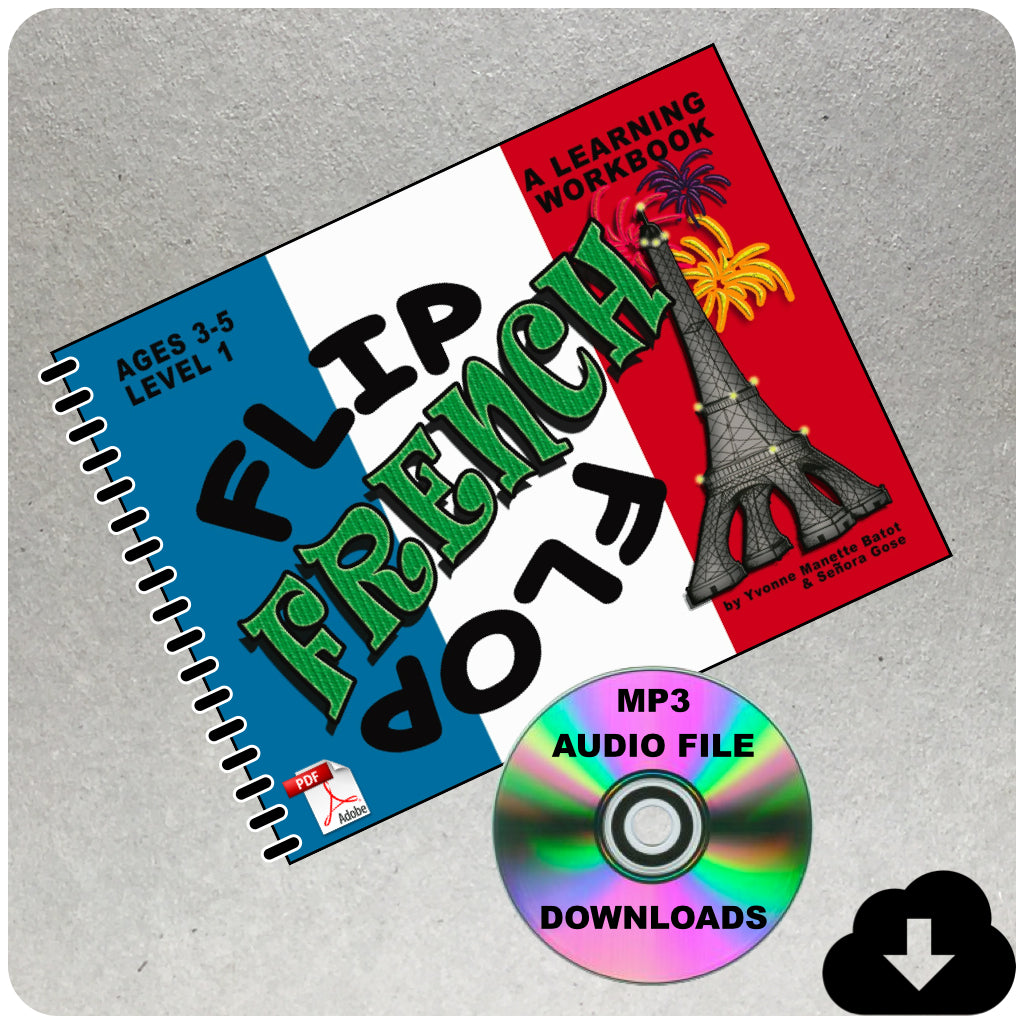 Flip Flop French Workbook: Ages 3-5: Level 1 (eBook & MP3 Audio)