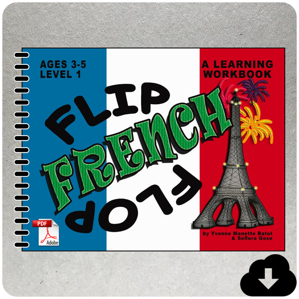 Flip Flop French Workbook: Ages 3-5: Level 1 FRONT COVER