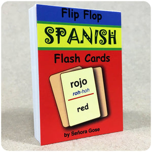 Flip Flop Spanish Flash Cards: Rojo - Homeschool Spanish Curriculum | Flip Flop Spanish