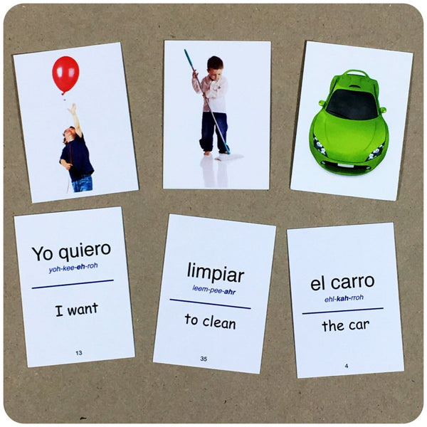 Flip Flop Spanish Flash Cards: Azul Sentence 1