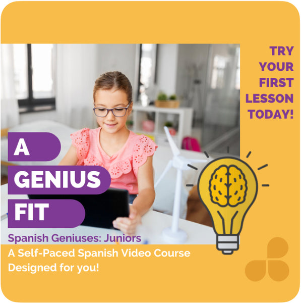 Spanish Geniuses Juniors: Video Spanish Lessons for Homeschoolers ages 8-13