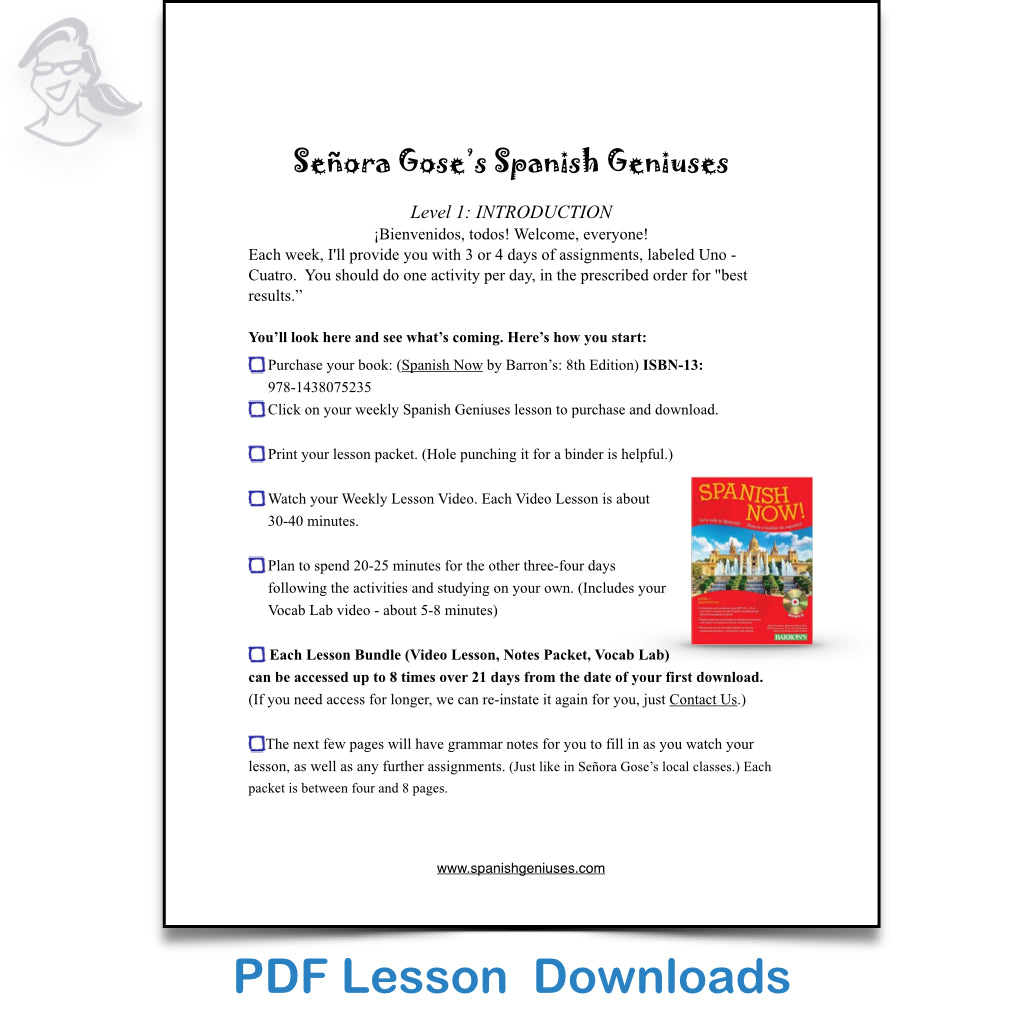 Spanish Geniuses: High School Spanish for Homeschool: Level 1 – Flip