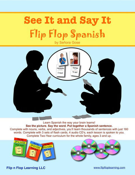 See it and Say it Flip Flop Spanish: Whole Family Spanish (SiSi) - Homeschool Spanish Curriculum | Flip Flop Spanish