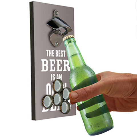 Bottle Opener & Magnetic Top Catcher