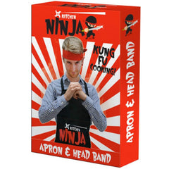 Ninja Apron & Headband Set - Gadgift - 2