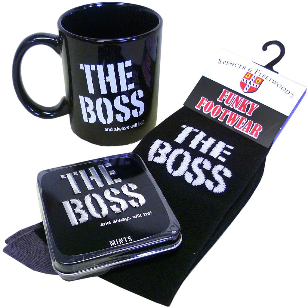 The Boss Gift Pack Mug, Mints & Socks - Gadgift - 1