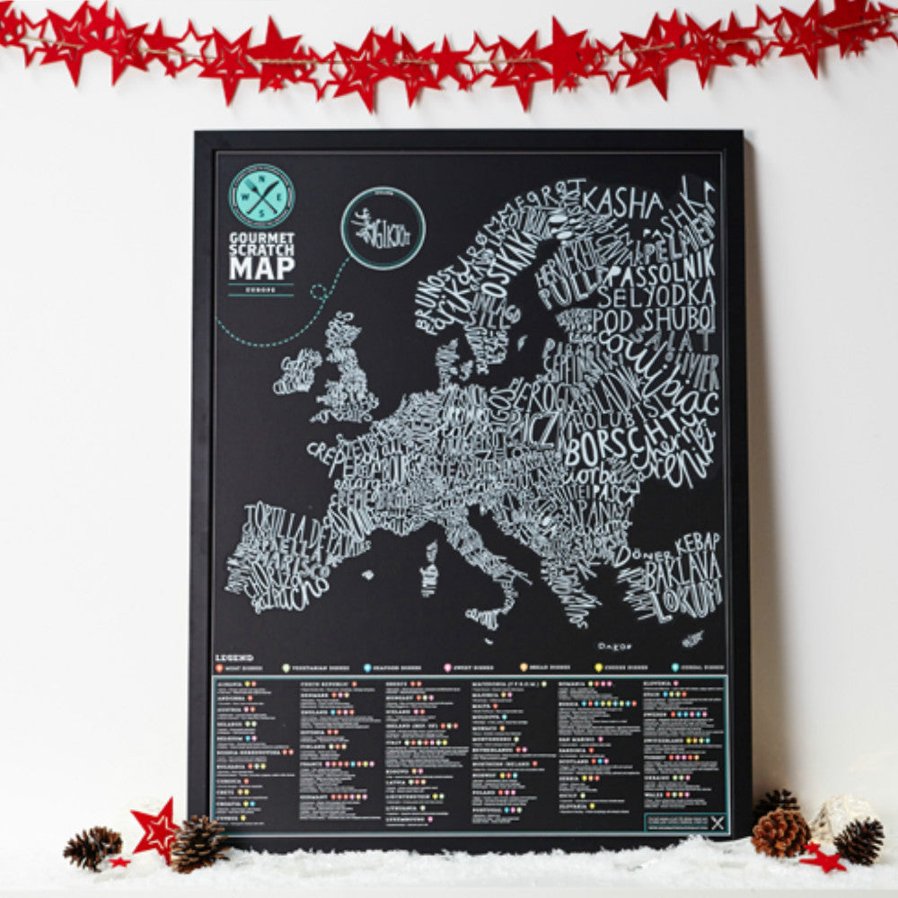 Gourmet Scratch Map - Gadgift - 1