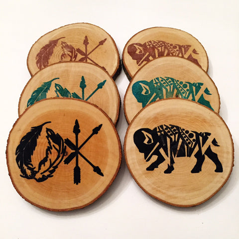 "Coasters- ""OK Bison"" set"