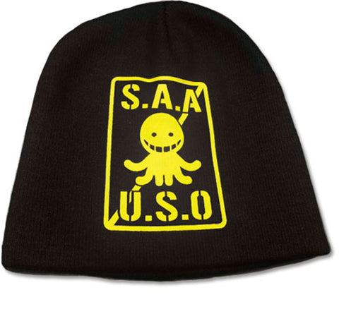 S.A.A.U.S.O Black and Yellow Beanie