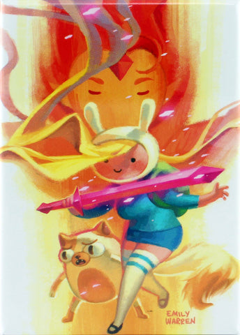 Adventure Time with Fionna & Cake Issue #1 Variant Cover by Emily Warren Magnet