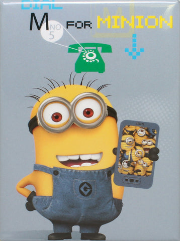Dial M For Minion Magnet