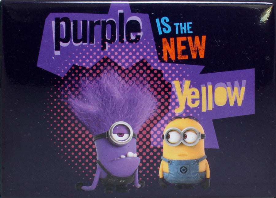 Purple Is The New Yellow Refrigerator Magnet - THATWEBSTORE