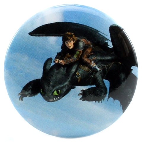 "Hiccup Rides Toothless 1.25"" Button"